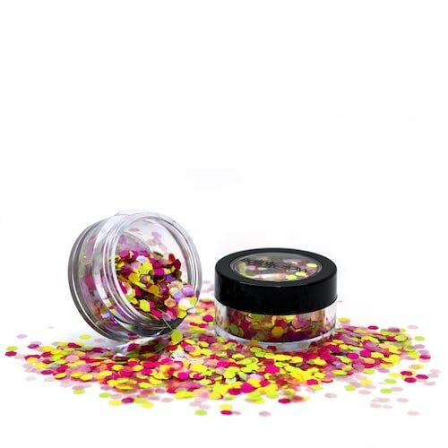 Chunky UV Holographic Glitter Shakers Rainbow Rave Åben