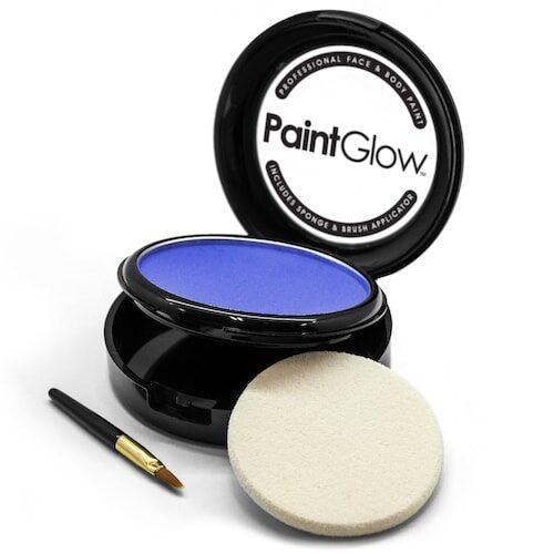 Pro Face Paint Cake - Blå ansigtsmaling / ansigtssminke